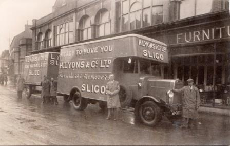 Henry Lyons delivery trucks 1930